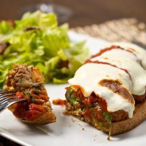 Meatball and Mozzarella Tartine